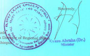 Dr Evasu Abrah - Agrarminister Äthiopien